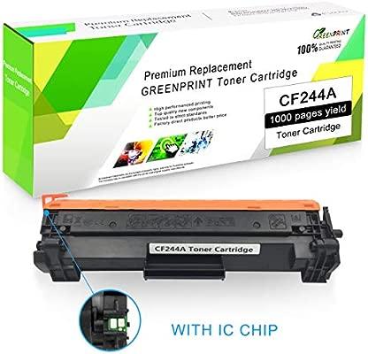 Cartucho de Tóner Compatible CF244A 44A Negro con Chip GREENPRINT 1000 páginas para Uso en Impresoras láser Color HP Laserjet Pro HP Pro M14 M15a M15w ...