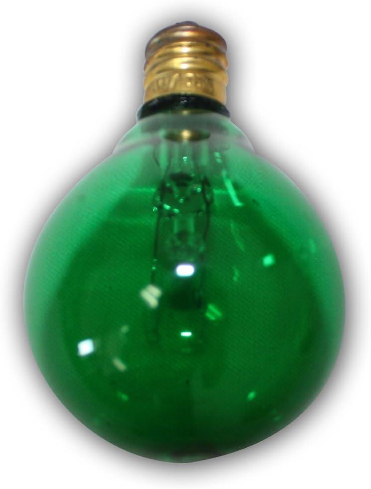 25-Pack TIAB INC String Light Company C7G40GB Green C7 G40 Bulbs Clear Color
