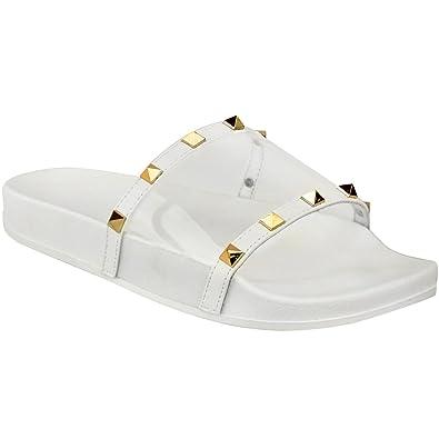 6ece612c48f12 Fashion Thirsty Sandales Plates à Enfiler - Clou Plexiglas - Style Tong Été  -