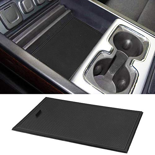 Secret Compartment Cover Center Console Organizer Tray for 2014-2018 GMC Sierra 1500 2500HD 3500HD Denali Chevy Silverado Hidden ()