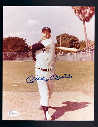 N.Y. Yankees Mickey Mantle Autographed Signed Photo Auto JSA/Dna Beautiful Vintage Pic - Mickey Mantle Autographed Photo