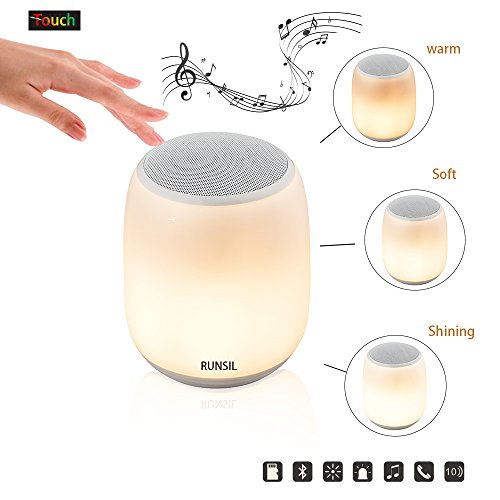 Q5 Bedside Lamp+ Portable Bluetooth Speaker, Subwoofer Speakers-Simple Style LED Night Light-Micro SD support-Color Changing Touch Table Lamps Camping Lantern Valentine's Day - Bring To Things Camping