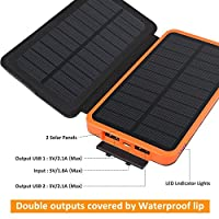 Solar charger 10000mah, sold by Hiluckey