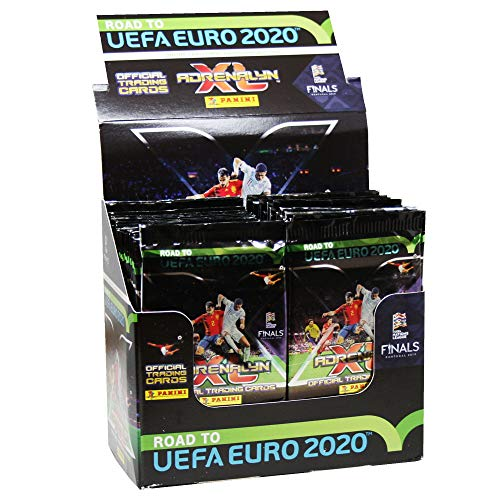 Panini 097511 Trading Cards Road to Euro 2020, Display with 50 Boosters, Multi-Coloured (Euro 2019 Best Player)