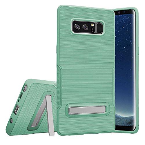 Hanbaili El caso protector para Samsung Note8, resistente TPU cubierta de parachoques con pata de cabra, antideslizante, a prueba de golpes, resistente a los arañazos Green