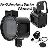 XSD MOEDL CNC Aluminum Alloy Frame Protective Case Bracket Mount Housing for GoPro HERO4 Session Action Camera (Black)