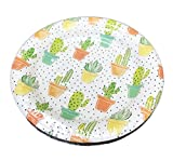Multi Potted Cacti & Succulent Plants Themed Appetizer Dessert Party Paper Plates 16 Count