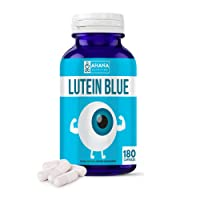Lutein Blue Supplement by Ahana Nutrition - Lutein 40mg Capsules with Bilberry and Eyebright to Support Eyes and Visual Function - Easy to Swallow Capsules (180-ct)