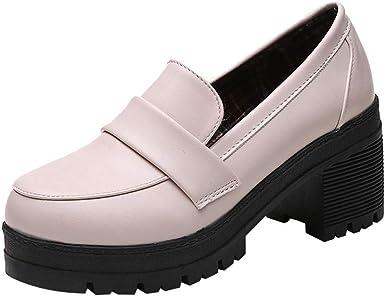 VECDY Zapatos Mujer Retro, Zapatos Planos Zapatos De Lok Fu Damas ...