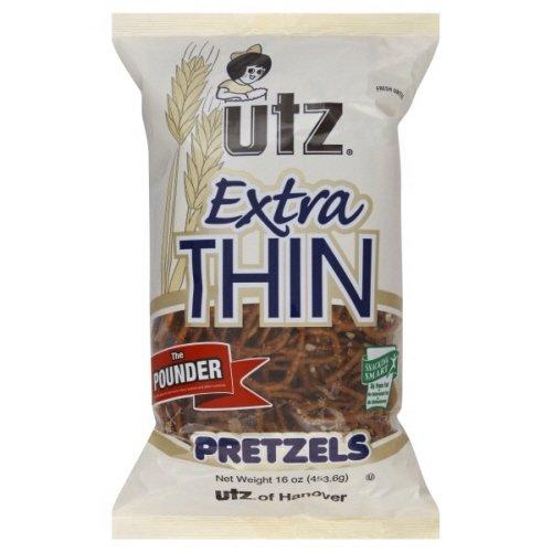 Utz Pretzels the Pounder Extra Thin 16 Oz (Pack of 8)