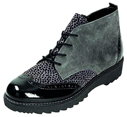 Remonte Damenschuhe R0570 Damen Stiefeletten, Stiefel, Boots schwarz/grau/gris