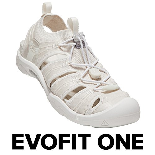 KEEN - Women's EVOFIT ONE Water Sandal for Outdoor Adventures, 8 M US, Triple White
