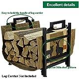 INNO STAGE Firewood Log Rack, Wrought Iron Wood