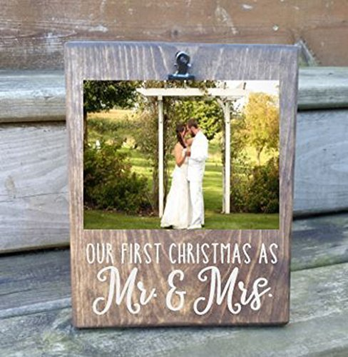 Amazoncom Our First Christmas As Mr And Mrs Picture Board Photo