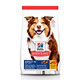 Hill's Science Diet, Adult 7+ Active Longevity, alimento seco para perros adultos mayores, receta de pollo, bulto de 14.9 kg.