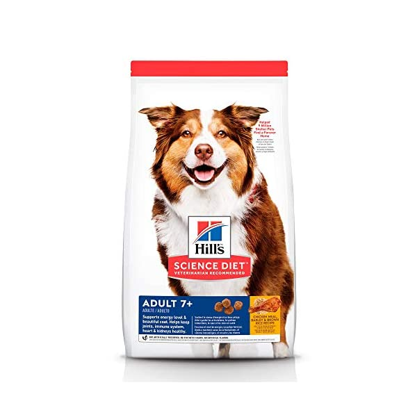 Hill's Science Diet Dry Dog Food, Adult 7+ for Senior Dogs, Chicken Meal, Barley & Brown Rice Recipe, 33 lb Bag
