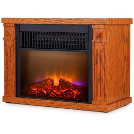 Global Air Mini Room Infrared Quartz Fireplace in Reddish Brown