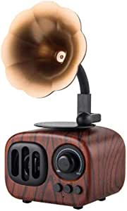 Retro Creative Wireless Bluetooth Audio, Speaker Speaker Loud Volume Phonograph Speaker Portable Mini Portable,Mahogany