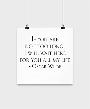 Amazon.com: Love Quotes Wall Decor - I Will Wait Here for ...