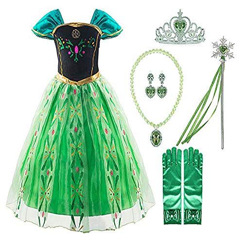 Elsa Girls Halloween Costumes - Little Girls Elsa Princess Dress Anna