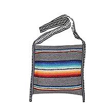 Mexican Style Falsa Blanket Tote Bag Messenger (Grey)