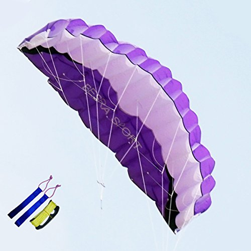 Besra New Arrival Huge 102inch/74inch Dual Line Parachute Stunt Kite with Flying Tools 2.6m/1.9m Power Parafoil kites Outdoor Fun Sports for Beach & Park (102inch - Warehouse New Arrivals