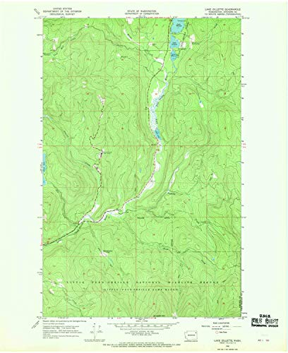 YellowMaps Lake Gillette WA topo map, 1:24000 Scale, 7.5 X 7.5 Minute, Historical, 1966, Updated 1969, 26.9 x 22 in - Tyvek