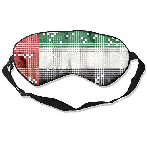 Longnankejilifeaa Sleep Eyes Mask Covers United Arab Emirates Flag Silk Sleeping Blindfold Stylish Adjustable Strap Eyeshade For Travelling Shift Work Night Noon Nap Yoga