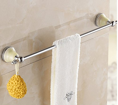 LHbox Tap Jewel of Whole Copper Rose Gold Single Lever Towel Rack Towel Bar Solid Brass Towel Towel Bar Orders Hardware, Solid Brass Single Lever from Punch, Silver, 63Cm