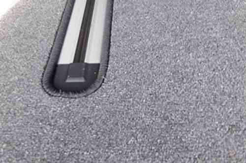 autix Gastraum und Kofferraum Teppich Fu/ßmatte grau meliert Velour f/ür 2 Schiebet/üren und Schiebetisch