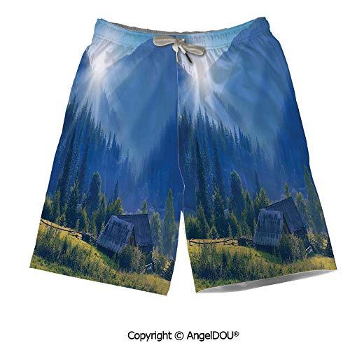 - AngelDOU Quick Dry Mesh Thin Printed Men Beach Shorts,Tiger,Panthera Tigris Alta