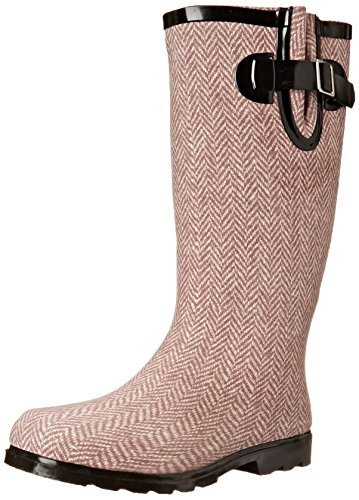 Women's Rain Dark Puddles Red Nomad Herringbone Boot 6q70wxxO