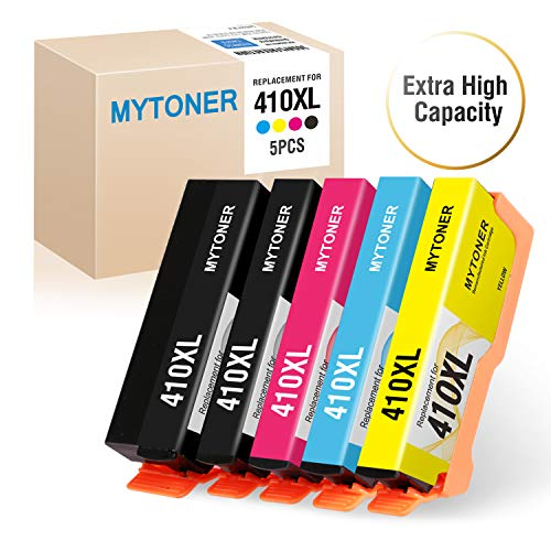ed Ink Cartridge Replacement for Epson 410XL 410 (Black,Photo Black,Cyan,Magenta,Yellow, 5-Pack) Use in Epson XP-7100 XP-830, XP-640, XP-530, XP-630, XP-635 Printer ()
