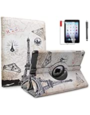 NEWQIANG iPad Mini Cases with Screen Protector and Stylus - iPad Mini 3/2/1 Case Cover - 360 Degree Rotating Stand with Auto Sleep/Wake for Mini 1st/ 2nd/ 3rd Generation - A1599 A1600(Travel)