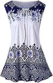 T-shirts for Women,Adelibe Women's T-Shirt Shirt Fashion Large Size Print Sleeveless Shirt Vest