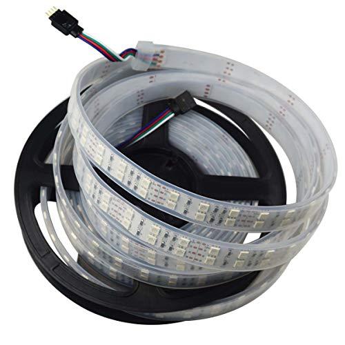 Nagulagu 16.4ft Double Row 5050 RGB LED Strip 5M 600 Leds SMD Light Tube Waterproof 12V