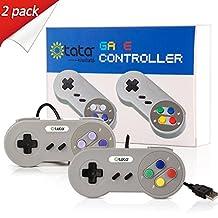 kiwitatá Super SNES USB Controller Joystick Use With PC Mac (Grey/Multi Color Keys+Purple Keys 2 Pack)
