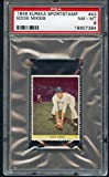 #9: 1949 Eureka Sportstamps #43 Eddie Miksis Dodgers PSA 8 NM/MT 307362 Kit Young Cards