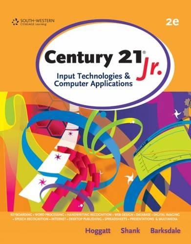 Century 21™ Jr., Input Technologies and Computer Applications (WinningEdge Titles)