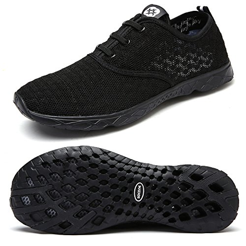 Dreamcity Men's water shoes athletic sport Lightweight walking shoes Black 10.5 D M US