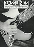 img - for Basslines: An easy to follow insight into 'slap' bass guitar playing, featuring transcriptions of bass lines: Mark King, Stanley Clarke, Marcus Miller, Jaco Pastorius book / textbook / text book