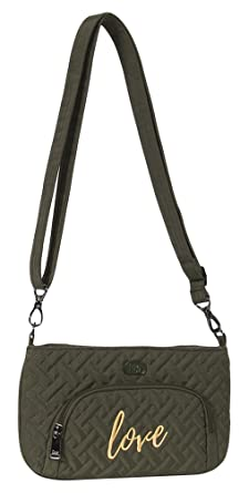 amazon com lug women s flyer mini cross body bag olive green one