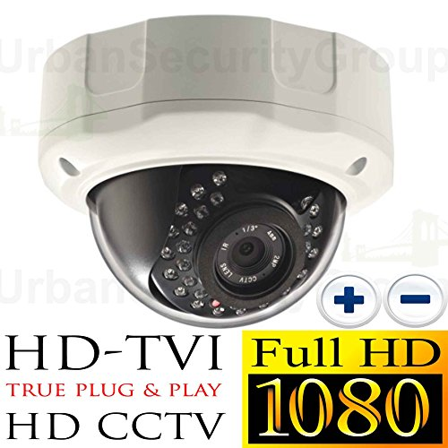USG Business Grade 1080P 2MP High Definition CCTV Dome Security Camera : MOTORIZED 2.8-12mm Vari-focal Lens : Auto-Focus, 1920x1080 HD Resolution, 30x IR LEDs, IR-Cut, WDR, Motion Detection, SONY Chip by Urban Security Group