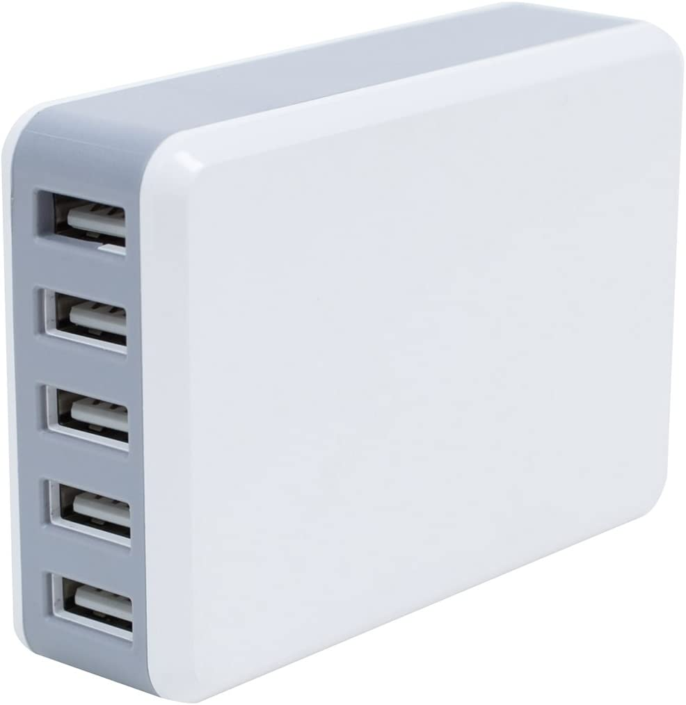 iPads White Universal Multi-Device Charging Station for All iPhones Galaxy MV-UNI-6 and Other Smartphones and Tablets Nexus