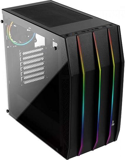 Aerocool KLAW - Caja PC, ATX, cristal templado, RGB frontal, 3 ventiladores RGB: Amazon.es: Informática