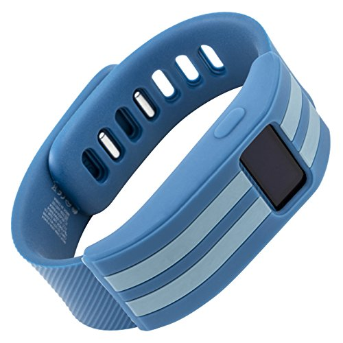 WITHit - Fitbit Charge/Fitbit Charge HR Slim Designer Sleeve - Band Cover - Stripe (Blue Slate)