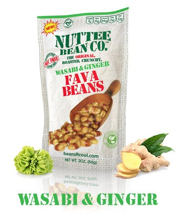 Roasted Fava Beans Wasabi and Ginger Flavor Gluten-Free Healthy Snacks Allergy-Free Food Vegan Low Calorie Snack All Natural Ingredients 12 x 2 Ounce by Nuttee Bean Join the Snack Revolution