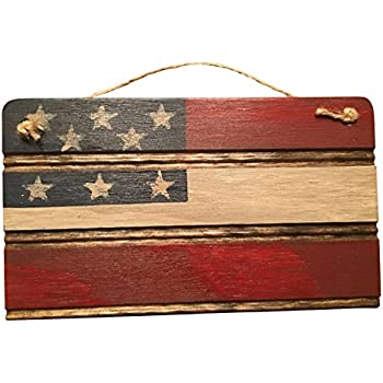 Americana American Flag Wooden Wall Decor. Perfect For Any Nostalgic  Americana Collection And Rustic Decor