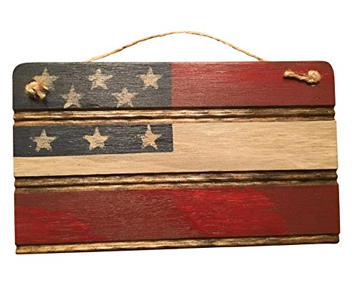 Americana American Flag Wooden Wall Decor. Perfect for any Nostalgic Americana Collection and Rustic Decor. Hand Made in the Heart of America. Made in…
