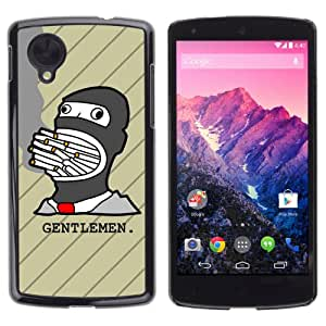 iKiki-Tech Estuche rígido para LG Google Nexus 5 - Funny Smoking Illustration